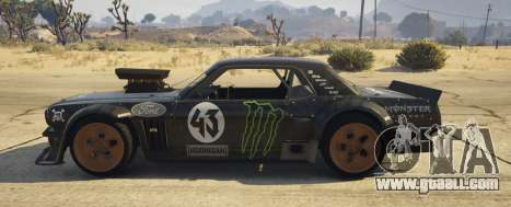 GTA 5 Ford Mustang 1965 Hoonicorn 1.2 [Replace] left side view
