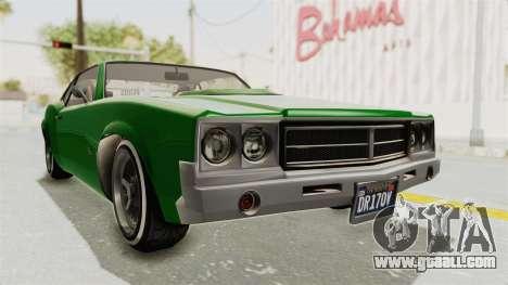 GTA 5 Declasse Sabre GT2 for GTA San Andreas right view