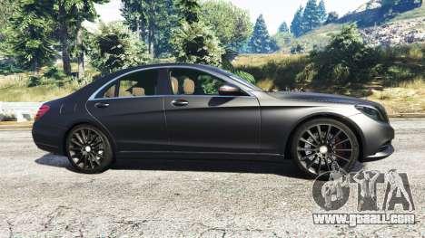 GTA 5 Mercedes-Benz S500 (W222) [michelin] v2.1 left side view