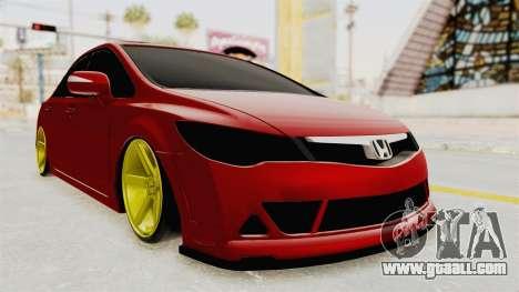 Honda Civic FD6 for GTA San Andreas right view