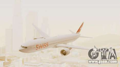 Boeing 777-300ER Swiss International Air Lines for GTA San Andreas back left view