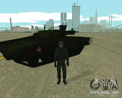T-14 Armata for GTA San Andreas right view