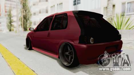 Peugeot 106 V2 RWD Greek Style for GTA San Andreas back left view