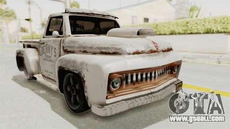 GTA 5 Slamvan Lowrider PJ2 for GTA San Andreas back left view