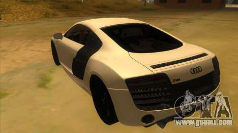Audi R8 5.2 V10 Plus for GTA San Andreas back left view