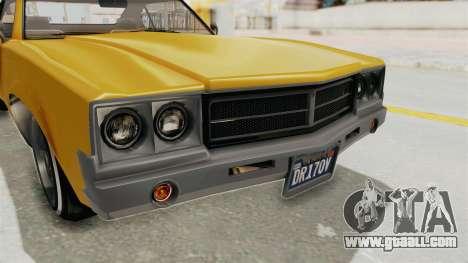 GTA 5 Declasse Sabre GT2 A IVF for GTA San Andreas upper view