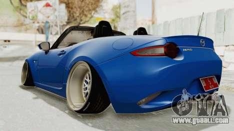 Mazda MX-5 Slammed for GTA San Andreas back left view