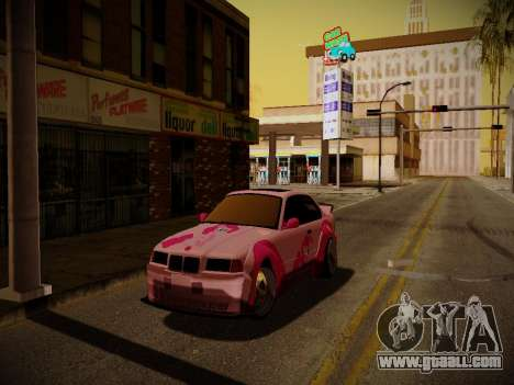 BMW M3 E36 Pinkie Pie for GTA San Andreas side view