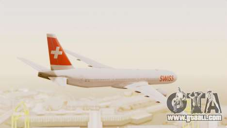 Boeing 777-300ER Swiss International Air Lines for GTA San Andreas right view