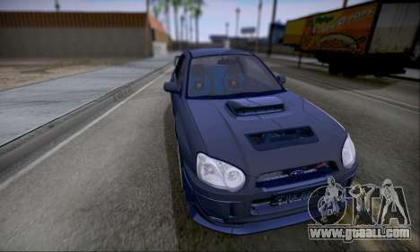 Subaru impreza WRX STi LP400 v2 for GTA San Andreas back left view