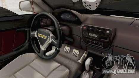 Honda Civic for GTA San Andreas inner view