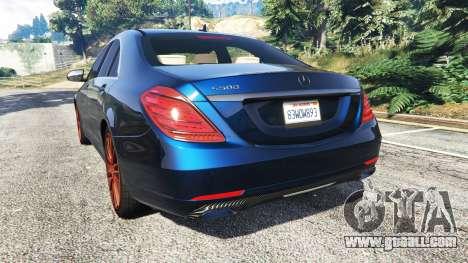 GTA 5 Mercedes-Benz S500 (W222) [yokohama] v2.1 rear left side view