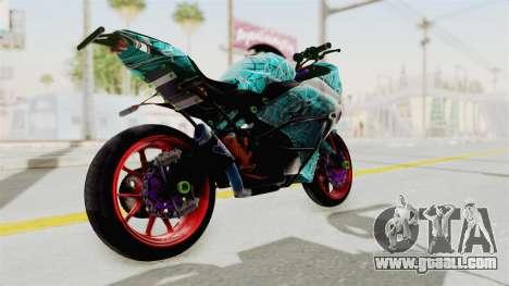 Kawasaki Ninja 250FI Stunter for GTA San Andreas back left view
