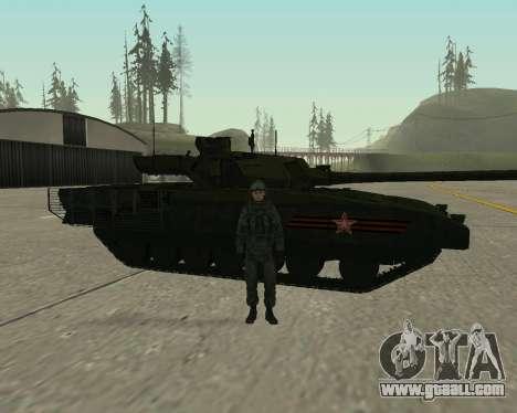 T-14 Armata for GTA San Andreas bottom view