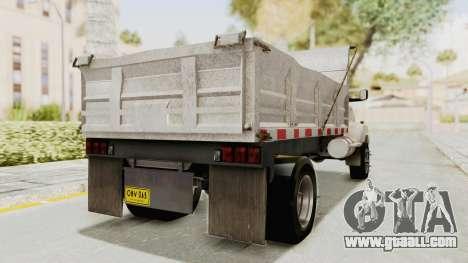 Chevrolet Kodiak Dumper Truck for GTA San Andreas back left view
