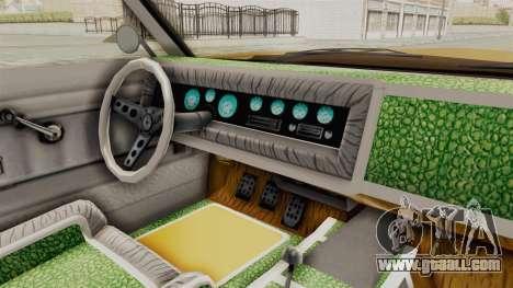 GTA 5 Declasse Sabre GT2 A IVF for GTA San Andreas inner view