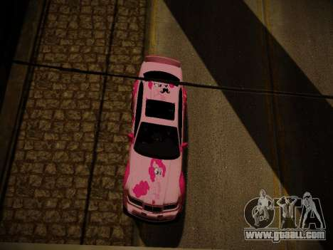 BMW M3 E36 Pinkie Pie for GTA San Andreas interior