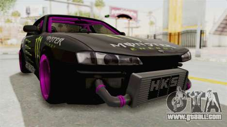 Nissan Silvia S14 Drift Monster Energy Falken for GTA San Andreas right view
