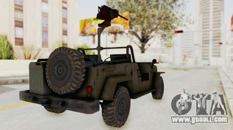 MGSV Jeep for GTA San Andreas back left view