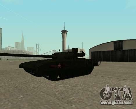 T-14 Armata for GTA San Andreas interior