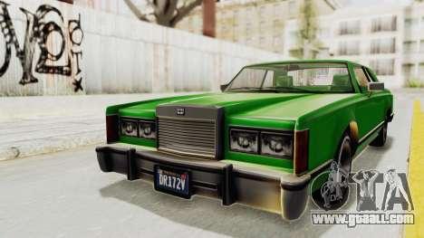 GTA 5 Dundreary Virgo Classic Custom v1 for GTA San Andreas right view