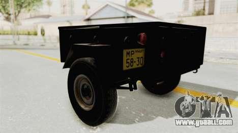 GAZ-704 Trailer for GTA San Andreas right view