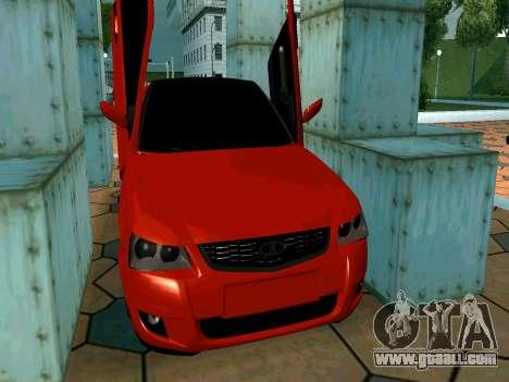 Lada Priora Lambo for GTA San Andreas upper view
