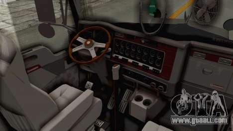 Kenworth T800 Centenario for GTA San Andreas inner view