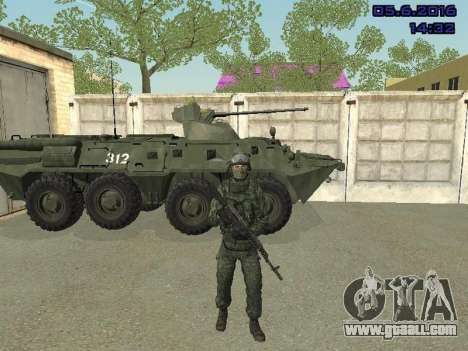 Modern Russian Soldiers pack for GTA San Andreas third screenshot