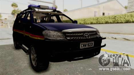 Toyota Fortuner JPJ Dark Blue for GTA San Andreas right view