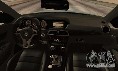 Mercedes-Benz C63 AMG Black-series for GTA San Andreas back view