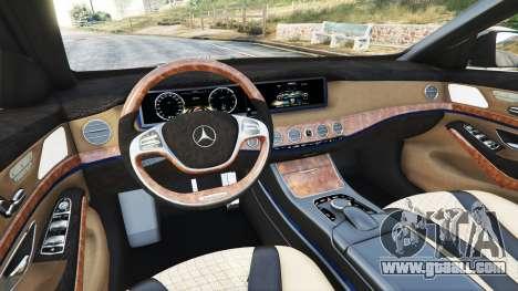 GTA 5 Mercedes-Benz S500 (W222) [yokohama] v2.1 front right side view