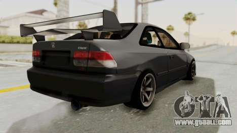 Honda Civic 1995 FnF for GTA San Andreas back left view