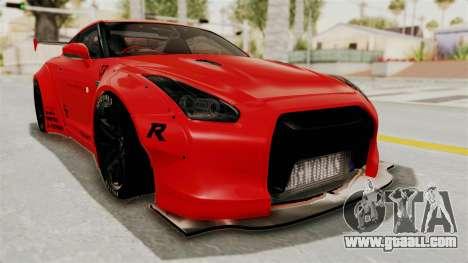 Nissan GT-R R35 Liberty Walk LB Performance v2 for GTA San Andreas