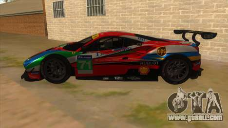 2016 Ferrari 488 GTE for GTA San Andreas left view