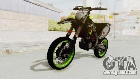 Kawasaki KX 125 Supermoto for GTA San Andreas right view