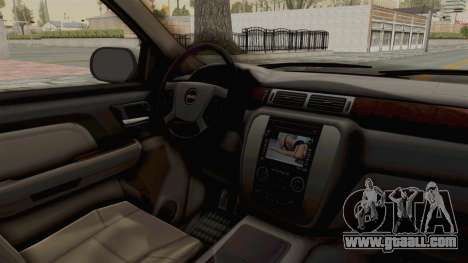 GMC Sierra 2010 for GTA San Andreas inner view