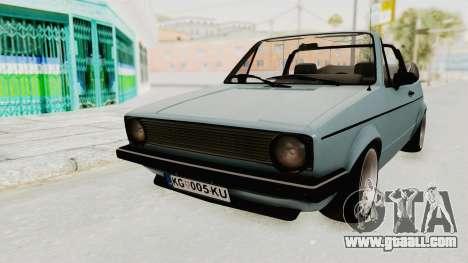 Volkswagen Golf 1 Cabrio VR6 for GTA San Andreas