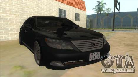 Lexus LS600HL 2008 for GTA San Andreas back view