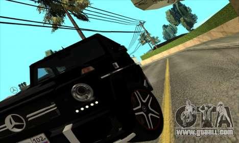 Mercedes G63 Biturbo for GTA San Andreas back view