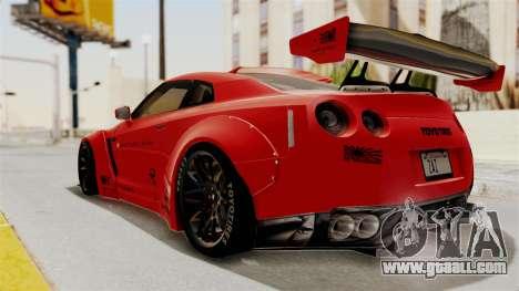 Nissan GT-R R35 Liberty Walk LB Performance v2 for GTA San Andreas left view