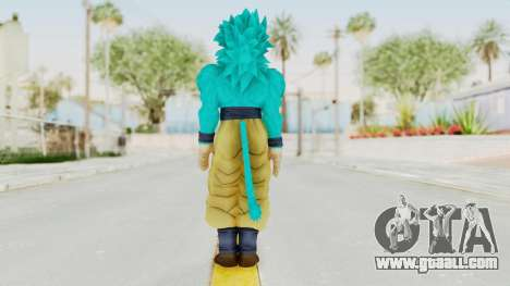 Dragon Ball Xenoverse Goku SSJ4 SSGSS for GTA San Andreas third screenshot