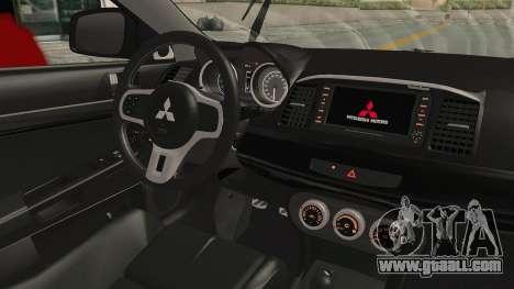 Mitsubishi Lancer Evolution X Ken Kaneki Itasha for GTA San Andreas inner view