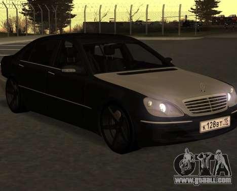 Mercedes S600 W220 JoRick Revazov for GTA San Andreas back left view