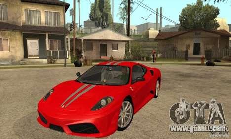 Ferrari F430 Scuderia BULKIN EDITION for GTA San Andreas back left view