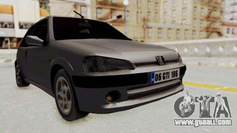 Peugeot 106 GTI Stock for GTA San Andreas