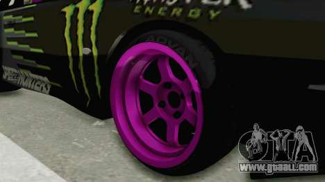 Nissan Silvia S14 Drift Monster Energy Falken for GTA San Andreas back view