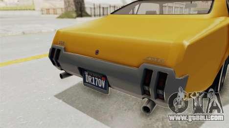 GTA 5 Declasse Sabre GT2 A IVF for GTA San Andreas bottom view
