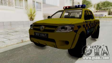 Toyota Hilux Expressway Patrol for GTA San Andreas back left view