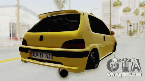 Peugeot 106 for GTA San Andreas left view